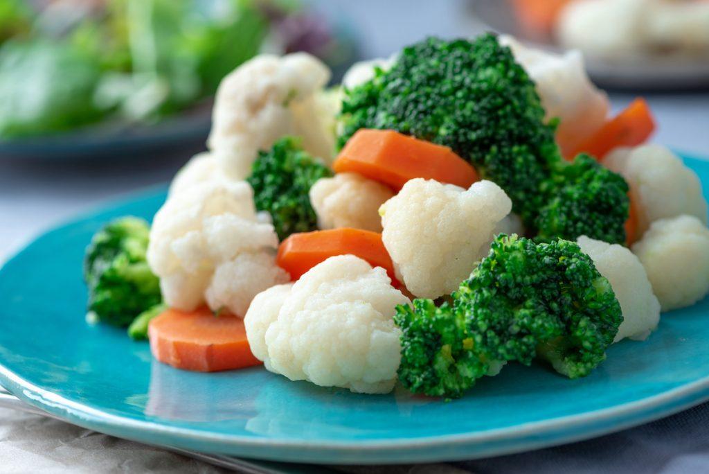 broccoli, carrotes