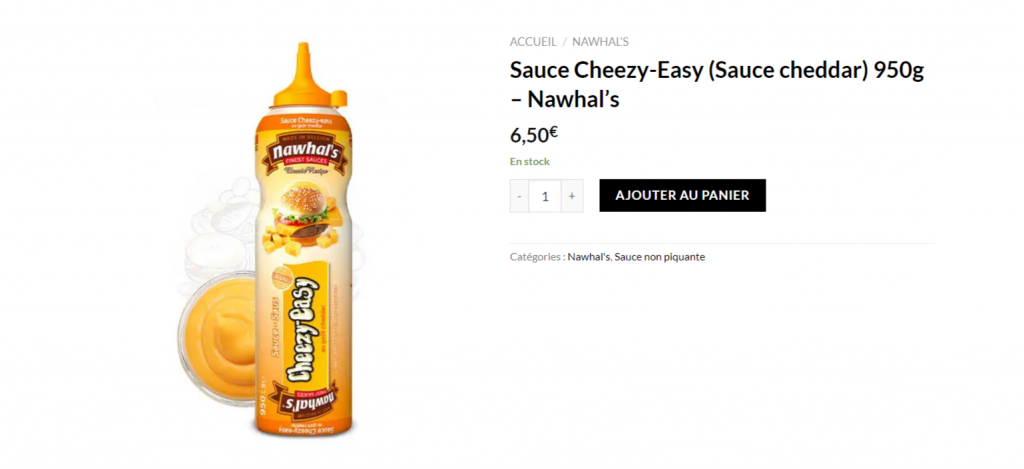 Sauce Cheezy-Easy (Sauce cheddar) 950g – Nawhal's